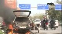News video: BOY SAVES SELF AS BLANKET OF FIRE ENGULFS CAR