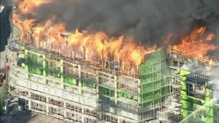 News video: Giant fire engulfs nine-storey building in San Francisco